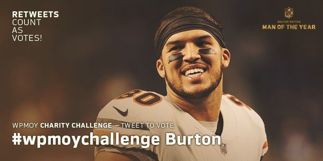 Honored to be the Walter Payton Man of the Year nominee. Use hashtag #WPMOYChallenge  + Burton to help me win the @Nationwide Charity Challenge<br>http://pic.twitter.com/hdTdGXUj4i