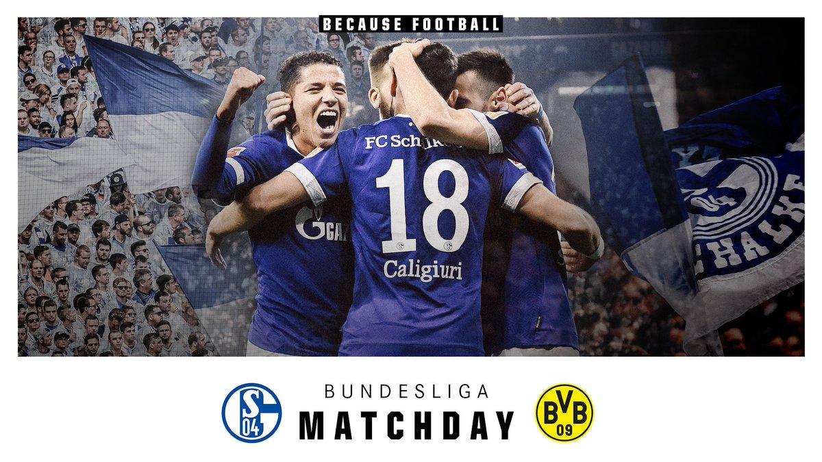 🙌 DERBY DAY! ⚽ @s04_en 🆚 @BlackYellow 🏆 @Bundesliga_EN 📍 @VELTINSarena 🕤 15:30 CET  #️⃣ #S04BVB   #s04 #Revierderby