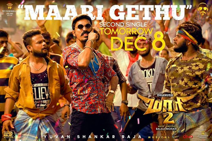 #MaariGethu - The 2nd Single from #Maari2 Releasing Tomorrow at 11am. Composed & Penned by Yours Truly! 😊 Photo