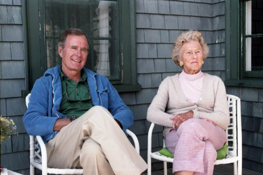 """One of President Bush's biggest challenges as a politician – one he inherited from his mother Dorothy – was talking about himself. He was always uncomfortable using """"the Big 'I'"""" as he put it. #Remembering41"""
