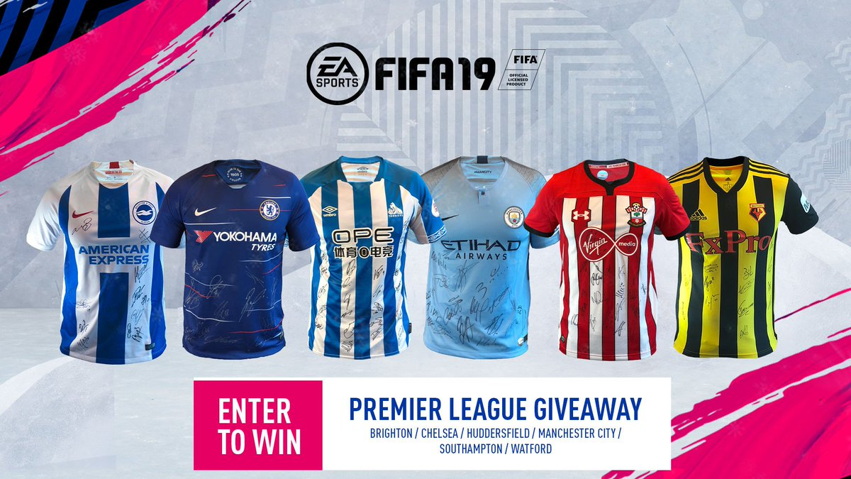 The #19DaysofFIFA Giveaways continues! Enter for a chance to win this #PL signed kit package! http://x.ea.com/54283  @premierleague #FIFA19