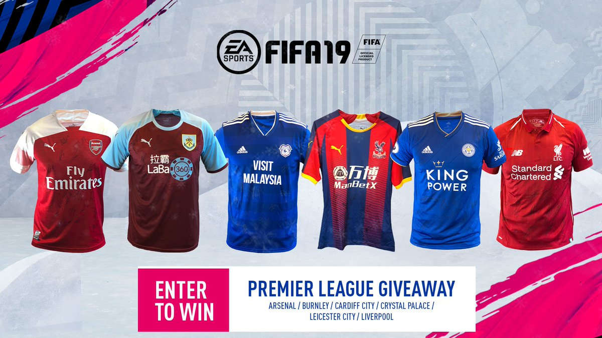 Six more signed #PL shirts! Enter now for your chance to win them! #19DaysofFIFA #FIFA19 @premierleague