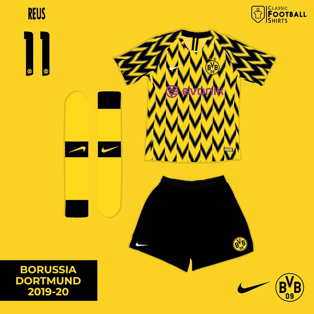 6680e7ecd Fantasy Kit Friday  Dortmund 2019-20 If Dortmund went back to Nike   fantasykitfridaypic.twitter.com w7ebSGN38t