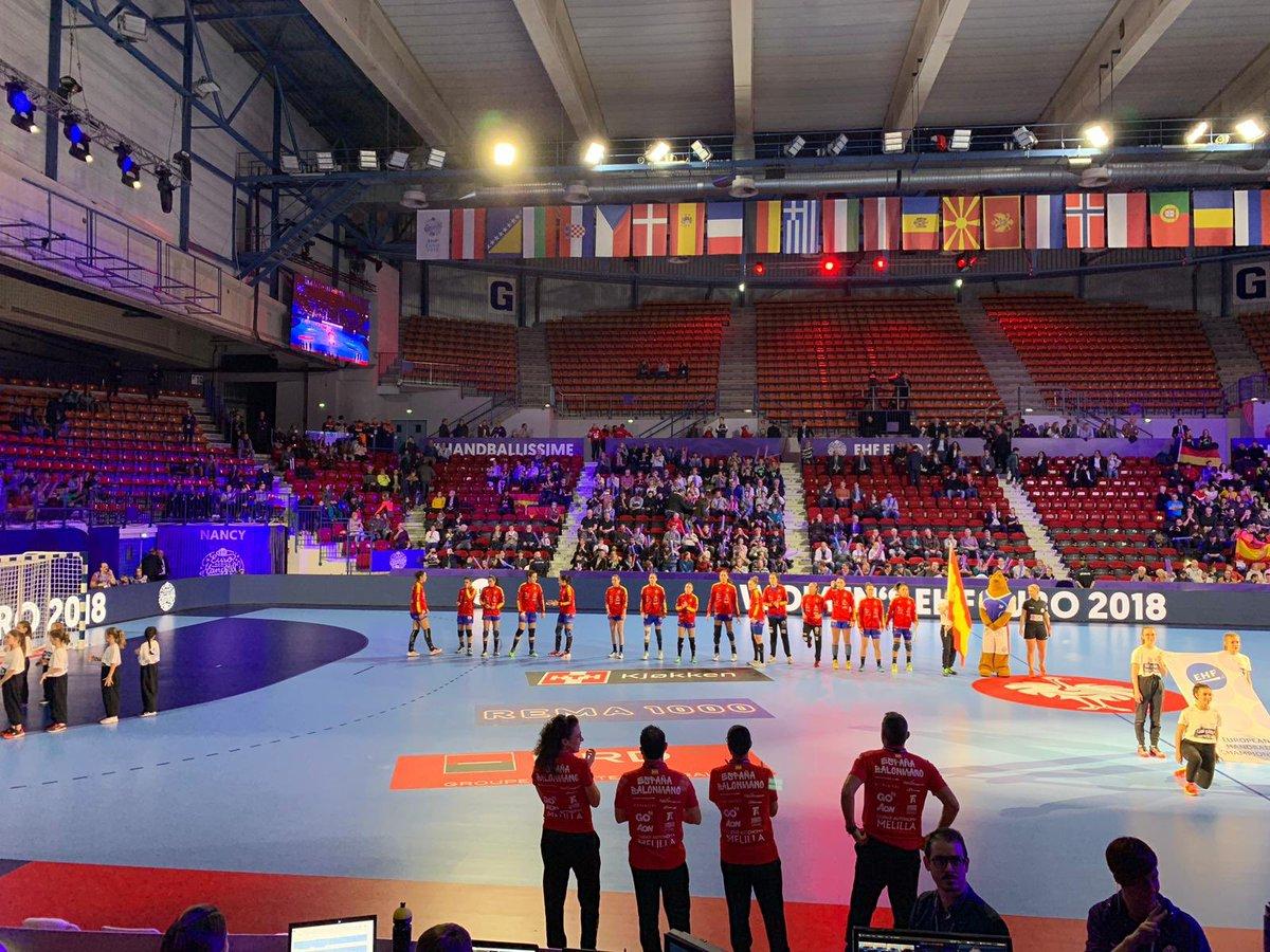 En Nancy ya para asistir al debut de las #Guerreras en la Main Round ante Alemania. Partido importante en el que buscar los primeros puntos de la ronda principal. #VamosEspaña #EHFEuro2018