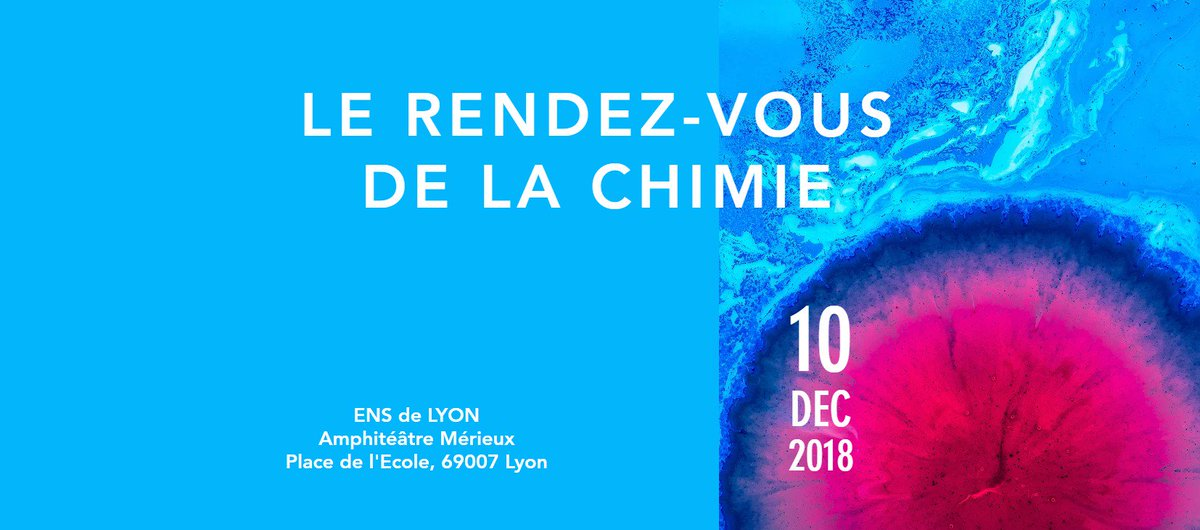 #savethedate 🗓 Rendez-vous de la #Chimie ce lundi 10 décembre 2018  Au programme partage d'expériences, d'histoires et de perspectives d'une région riche en terme d'industrie chimique.  Plus d'infos 👉 https://t.co/nQWiLmfiqe https://t.co/nWu79UgAUF