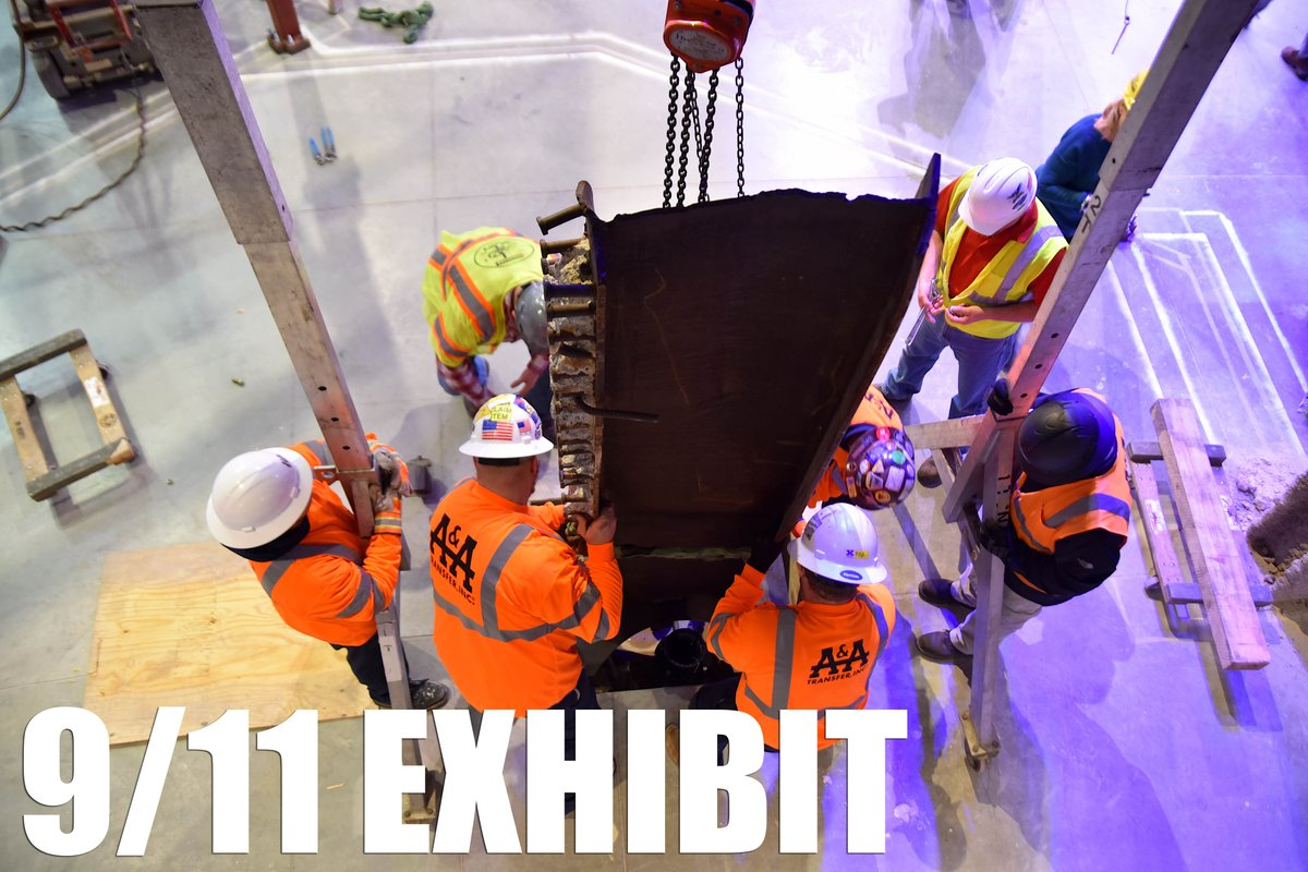 This week, the @MarineMuseum installed a special section dedicated to the attacks of 9/11. An I-beam from the World Trade Center and a fragment from the Pentagon were installed. The new exhibit will open in the spring of 2019.