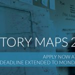 Image for the Tweet beginning: The Story Maps application deadline