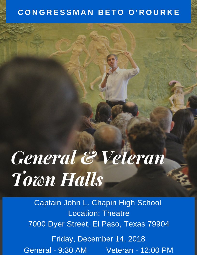 Our December town hall meetings are almost here -- General town hall at 9 a.m. and Veteran town hall at 12 p.m. RSVP and find more information here: General: https://www.facebook.com/events/354954125315535/…  Veteran: https://www.facebook.com/events/294693651164707/…