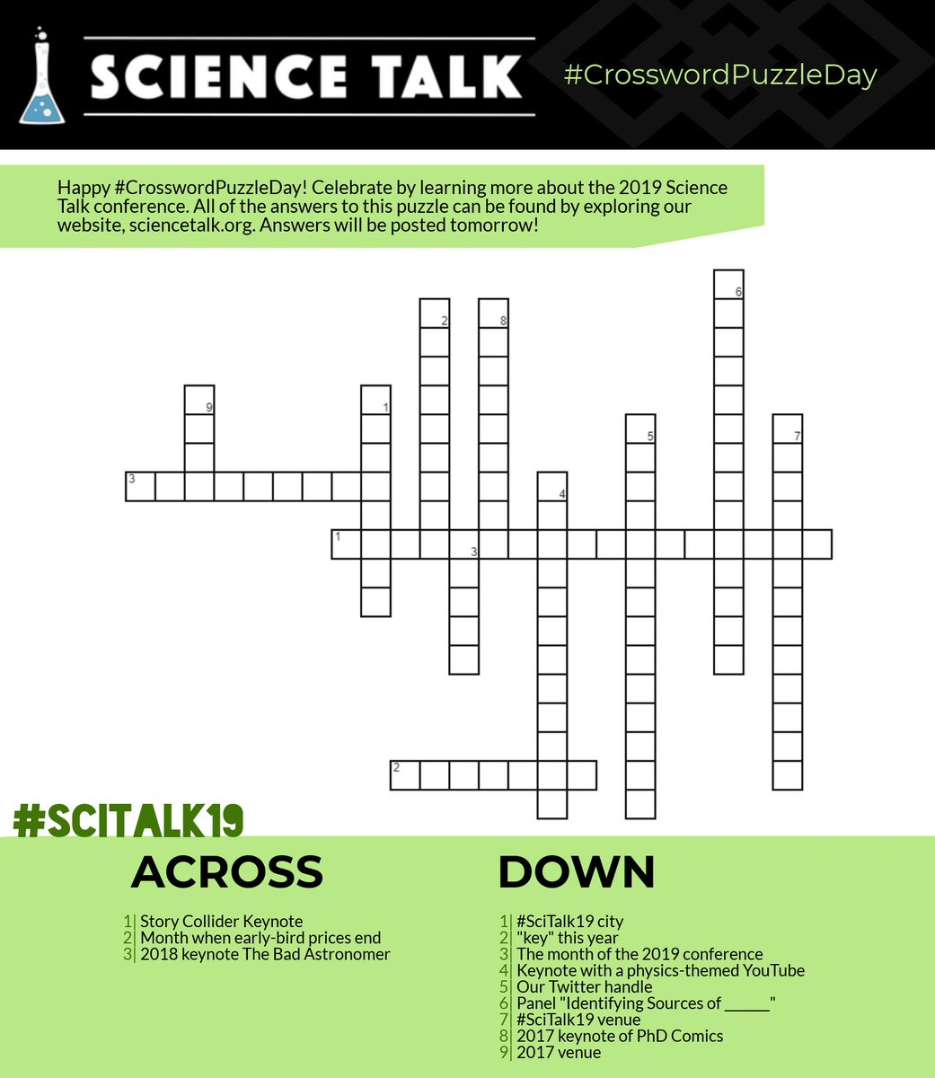This is an image of Science Crossword Puzzle Printable pertaining to worksheet