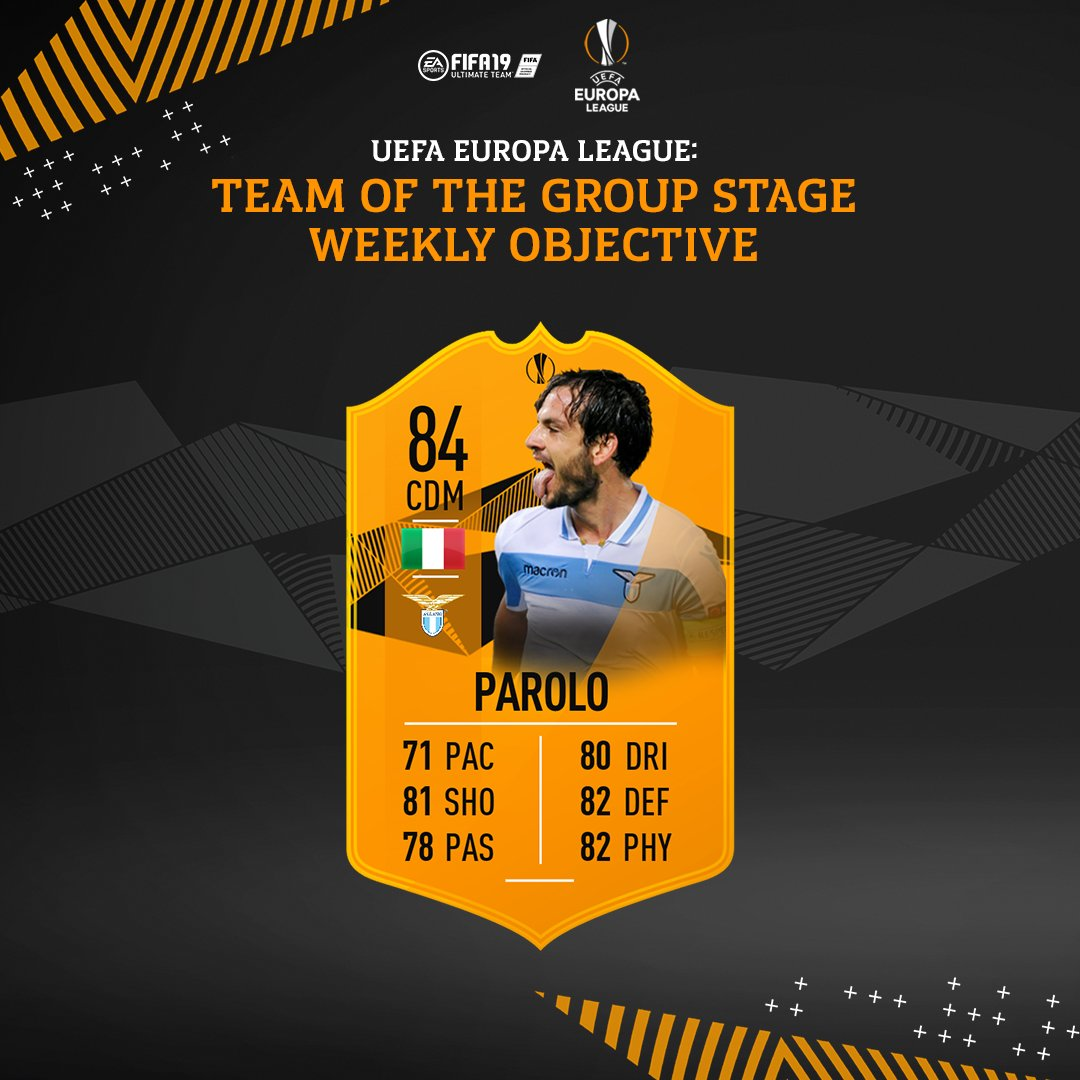 #UEL Team Of The Group Stage Marco Parolo available now via weekly objective #FUT #FIFA19