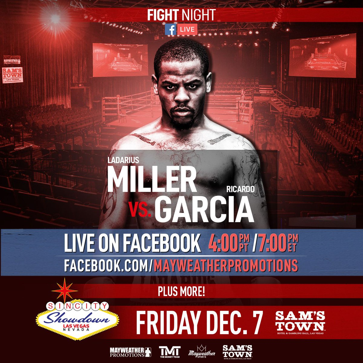 test Twitter Media - It's fight night! Ladarius Miller and Ricardo Garcia are both looking to get the win, but who will come out victorious? Tune in on our FB live or join us at @samstownlv to find out! #MillerGarcia #SinCityShowdown https://t.co/5OkeEMafpt