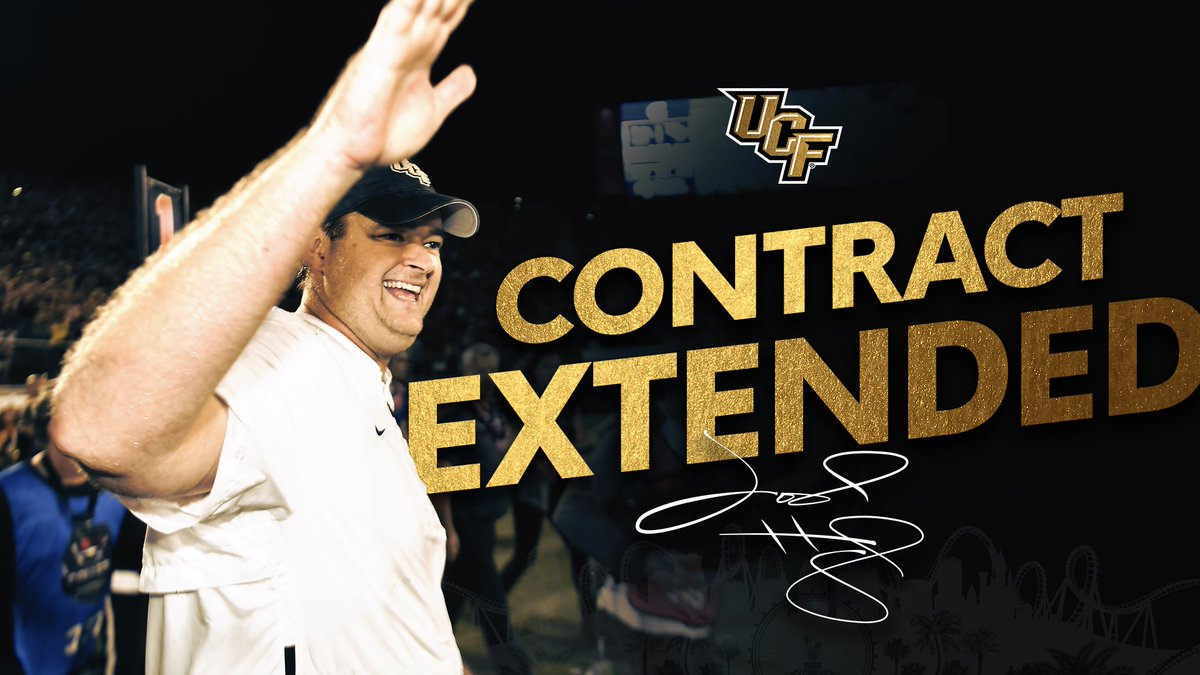 #TheHeupIsReal Pumped to have @coachjoshheupel under contract even longer here in Orlando! 📰 ucfknights.co/18heupextension