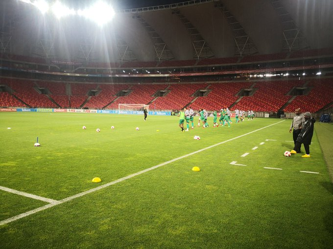 #TKO2018Final @Baroka_FC Matchday-1 training session at the Nelson Mandela Bay Stadium. Photo