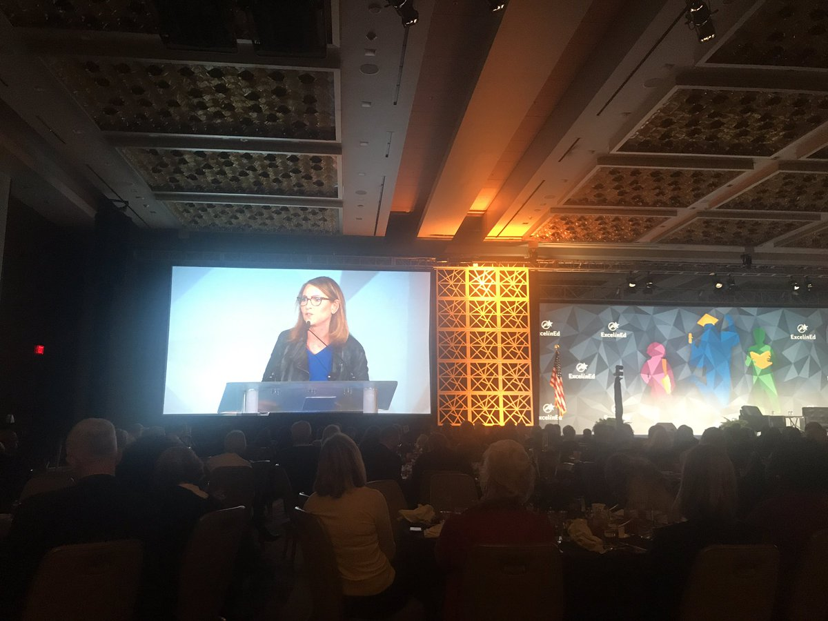 """The ed establishment wildly underestimates children. They are short, not stupid."" @MoskowitzEva @ExcelinEd telling us why she holds all students to high expectations- and succeeds! #EIE18 @SuccessCharters<br>http://pic.twitter.com/rA20djcVDE"