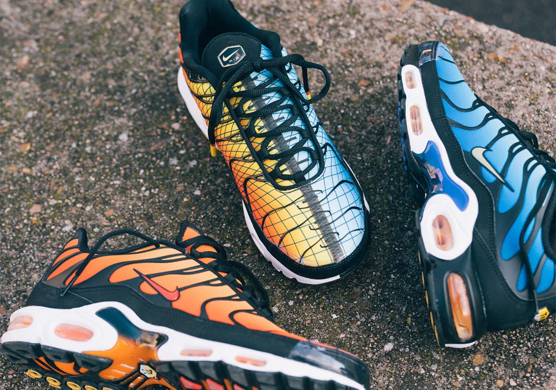 air max tn orange and blue