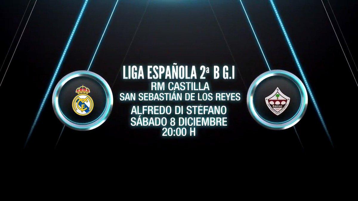 🙌 ¡DÍA DE PARTIDO! 🙌 Real Madrid Castilla 🆚 @UDSanse 🏟 Estadio Alfredo Di Stéfano ⏰ 20h00 🏆 2ªB - Grupo I - Jornada 16 📺 Directo en #RMTV  #⃣ #LaFabrica