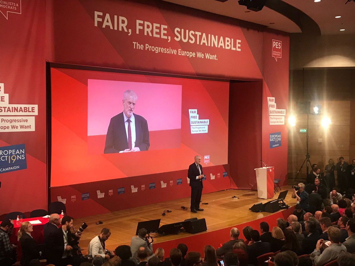 Today in Lisbon I spoke at the Congress of the Party of European Socialists.  We must build a social Europe, inside and outside the institutions of the European Union, that really does work for the many, not the few.