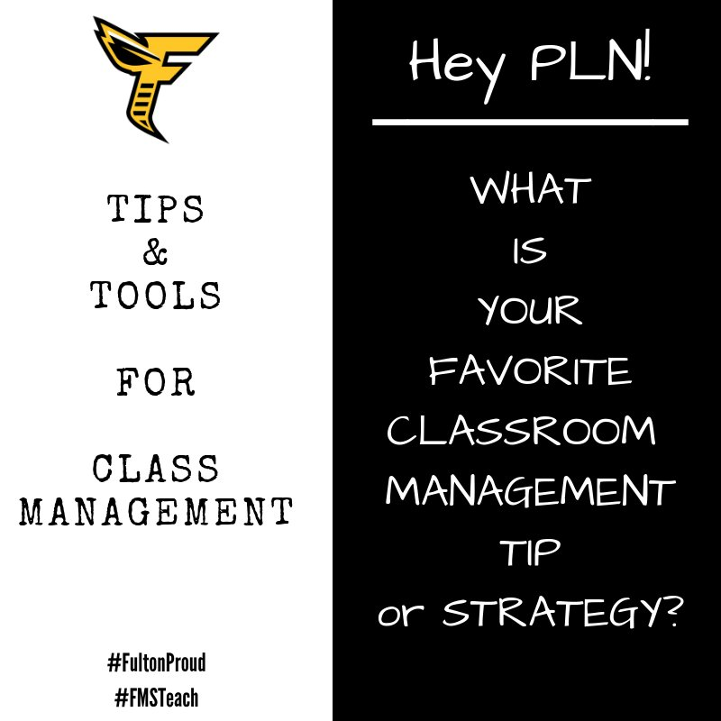 Hey, hey PLN! We are preparing for a classroom management strategy slam! What is your favorite tip or tool? Pics encouraged! (and yes, relationships, relationships, relationships is first, next and always!) #leadlap #tlap #principalsinaction #bfc530 #KidsDeserveIt<br>http://pic.twitter.com/k0Lt6pa5b9