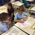 Image for the Tweet beginning: 1st graders enjoying a whole