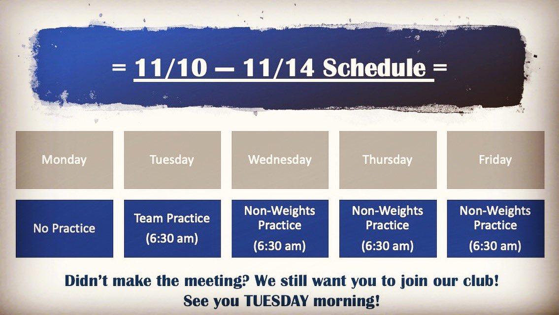 Next week's schedule. #RiseAndGrind #OwlPower<br>http://pic.twitter.com/fjZ2IeZtKP