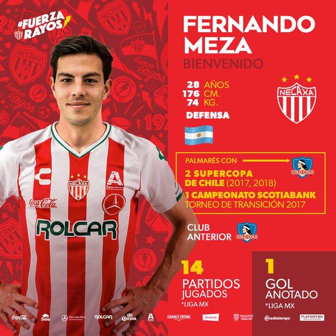🚨 ¡Atención, Rayos! ¡Damos la bienvenida a Fernando Meza, quien volverá a vestir nuestros colores, como primer refuerzo de cara al #Clausura2019! ¡Con todo, @fermeza6! #FuerzaRayos ⚡️ Foto