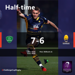Half-time ⏲️@SectionPaloise strike very, very early through Colin Slade but @WorcsWarriors fire back through @JamieShillcock and are fighting tooth and nail in the French rain! 💪#ChallengeCupRugby