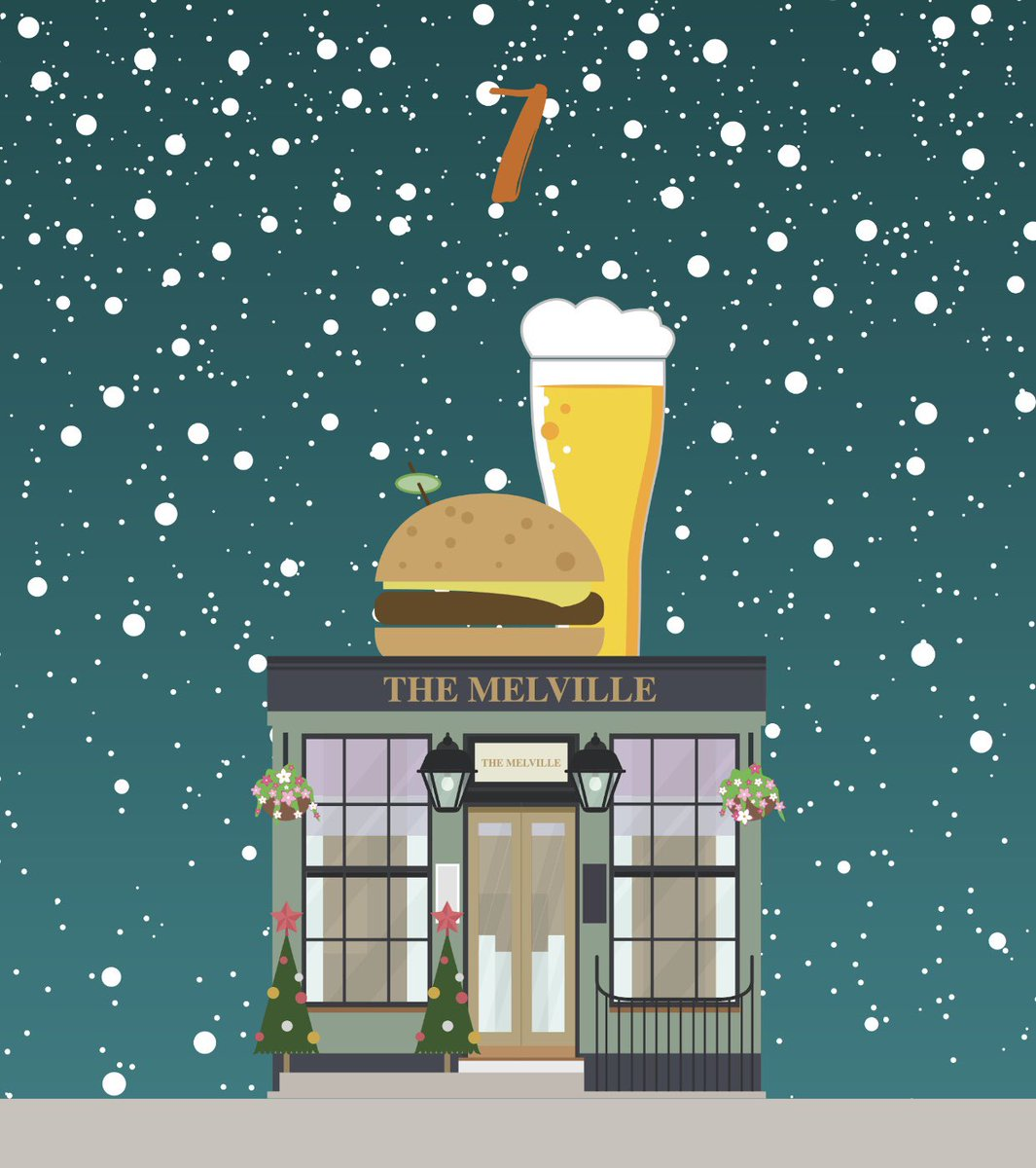 #StepIntoTheWestEnd 🎄✨ It's Day 7 of our Advent Calendar/Stamp Card Competition. Simply spend in store to collect a stamp. Collect 12 out of the 26 stamps to be in the running to win a Christmas Hamper worth over £1,000 (T's and C's apply)  @TheMelvilleBar 🍔🍺   #hiddengems