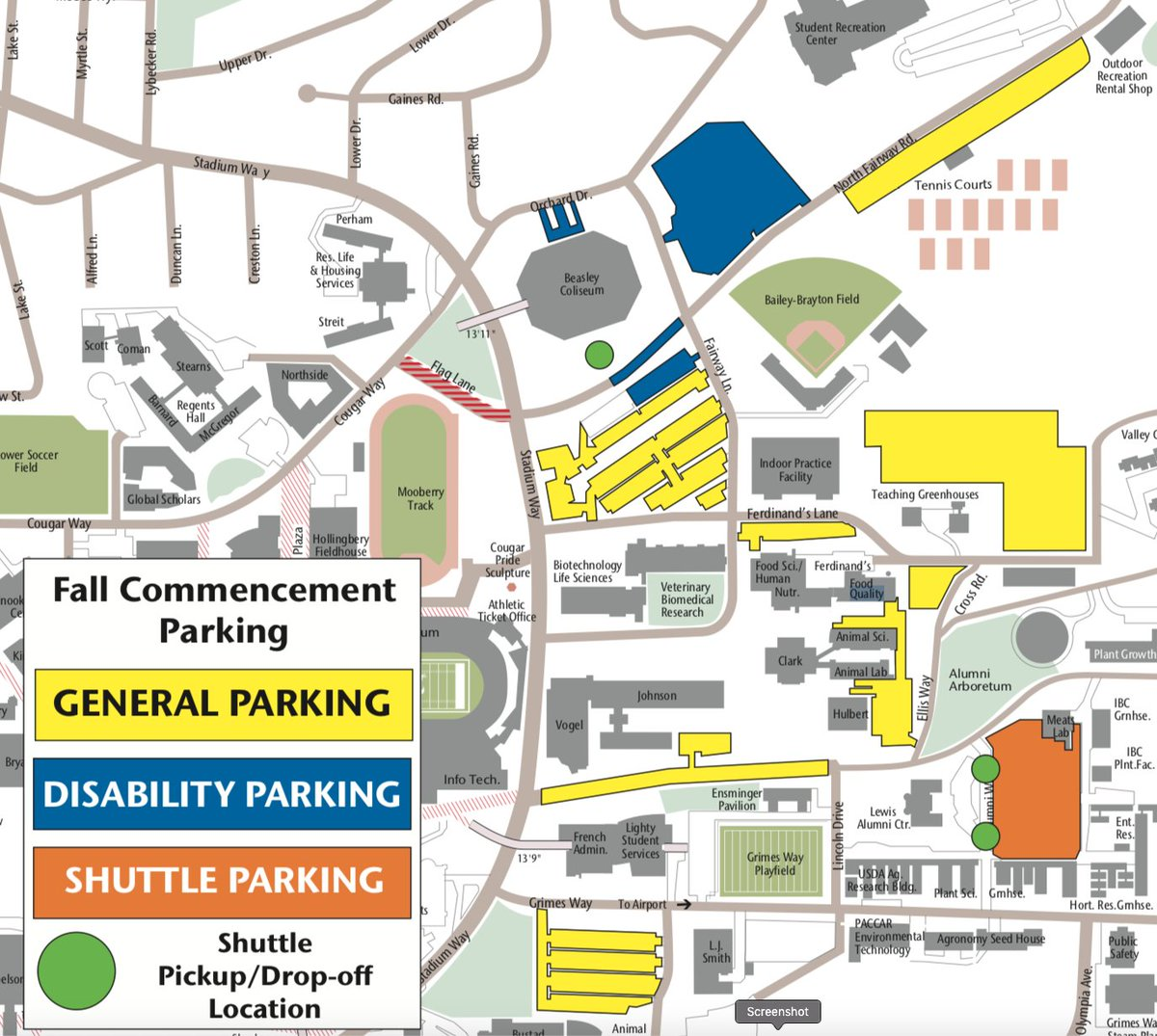 Wsu Pullman On Twitter Parking And Shuttle Info For Couggrad Is