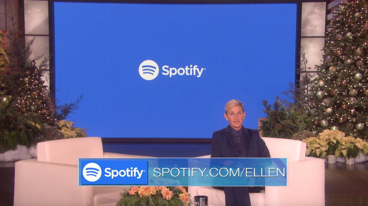 If you love Spotify and you love me, have I got big news for you! #ThanksSponsor spotify.com/ellen