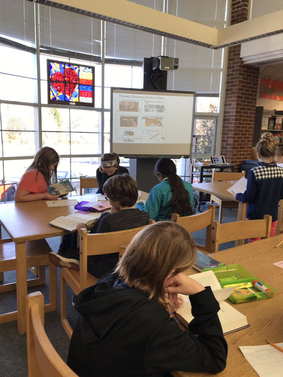 5th grade students identified elements of Fantasy while on a book exploration. We tracked our personal findings on a worksheet &amp; our overall class data on the board to spark discussion. <a target='_blank' href='http://twitter.com/APSLibrarians'>@APSLibrarians</a> <a target='_blank' href='http://search.twitter.com/search?q=APSLibrariansExplore'><a target='_blank' href='https://twitter.com/hashtag/APSLibrariansExplore?src=hash'>#APSLibrariansExplore</a></a> <a target='_blank' href='https://t.co/s4zk7ntXiy'>https://t.co/s4zk7ntXiy</a>