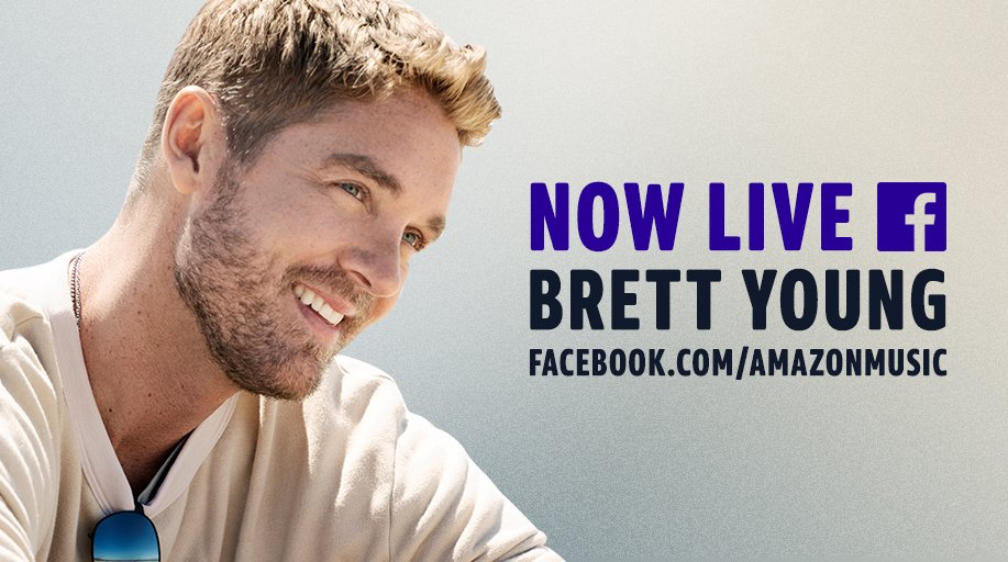 We're LIVE with @BrettYoungMusic right now! Tune in: amzn.to/2UkipsR