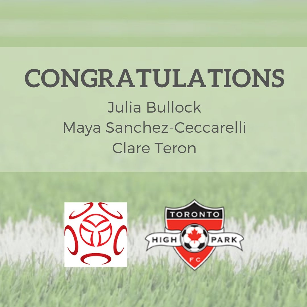 Congratulations to THPFC alumni Julia Bullock, Clare Teron and Maya Sanchez-Ceccarelli for being selected from the Provincial Screening to participate in the 2019 Provincial Projects! 🌟 #OntarioSoccer #OSA #THPFC