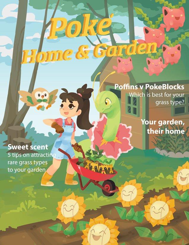 Poke' Home and Garden. Still my fav poke'mon fanart I've done
