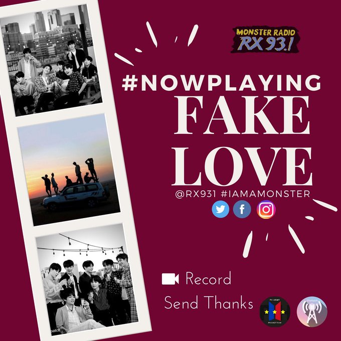 #RXNowPlaying FAKE LOVE by @BTS_twt #IAmAMonster on @RX931 Listen here: 🙆♀️🙆♀️🙆♀️ Photo
