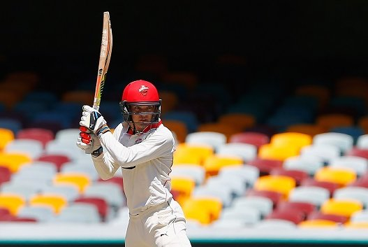 A century for Alex Carey against New South Wales #SheffieldShield Photo
