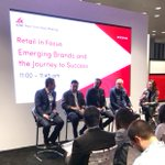 Enjoyed the innovation-focused conversation at this year's @icsc New York Dealmaking event. Great to hear from emerging and established retailers like Brent from @UNTUCKit  Ben from @mgemi Chris from CircumferenceNYC and Mark from Fourpost. #ICSCNYDM