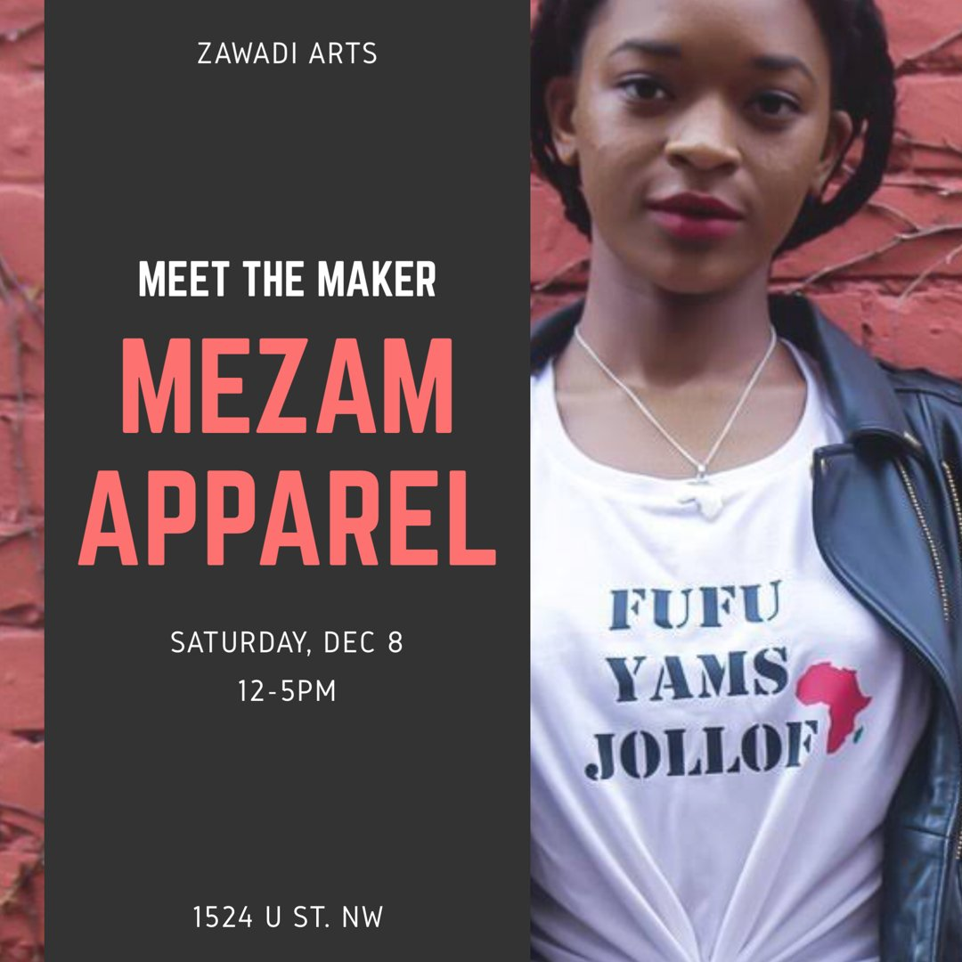 Meet the Maker: Manka Azefor & purchase unbelievably cool leggings, bags & athleisure wear with African prints this weeeknd! #ShopZawadi