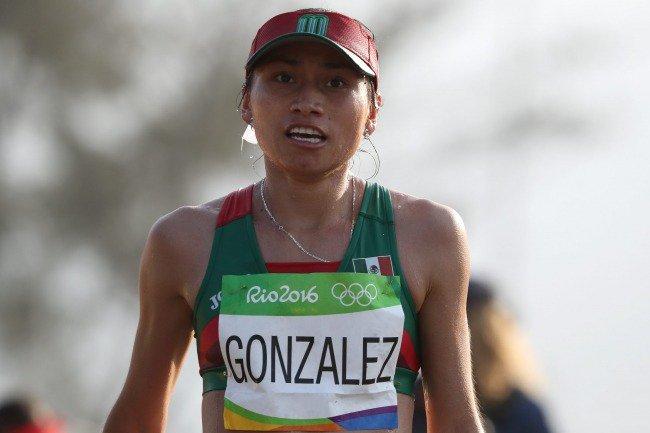 Lupita González sufre un golpe a su carrera deportiva. Luego de haber sido medallista olímpica en Río 2016, ahora la marchista mexicana podría ser suspendida por 4 años luego de dar positivo en una prueba de dopaje. Foto