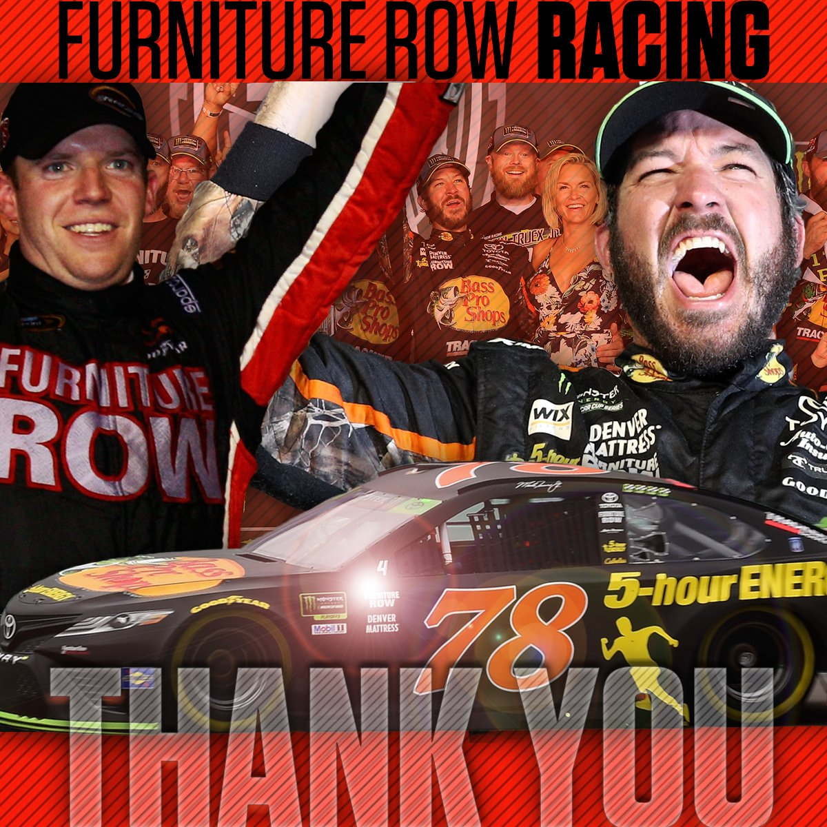 Nascar On Nbc On Twitter From Furniture Row S First Win At