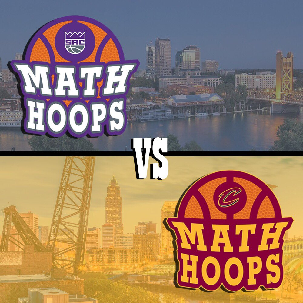 .@cavs and @SacramentoKings are featured in today's #MathHoopsMatchup. There are six games tonight featuring two #MathHoops partners!