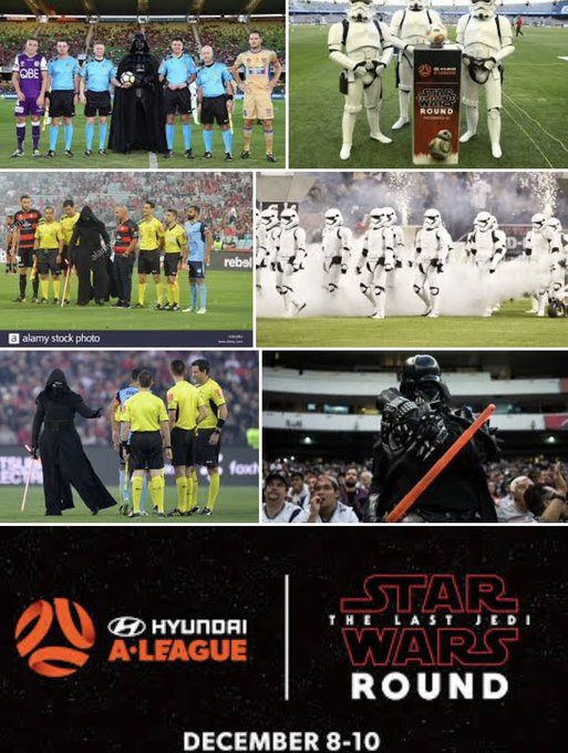 #MVCvADL Happy 1 year anniversary to all my fellow @ALeague fans. What a round it was! Can't believe it is already 1 year. At the going down of the sun & in the morning, #SokkahTwitter will remember @starwars round Photo