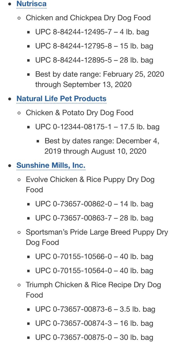 Dog Food Recall List 2020.Emzotic On Twitter Warning The Fda Has Recalled