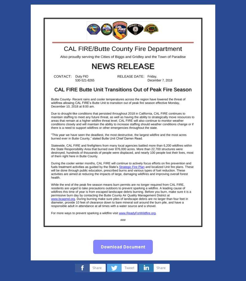 CAL FIRE Butte Unit/Butte County Fire Department on Twitter