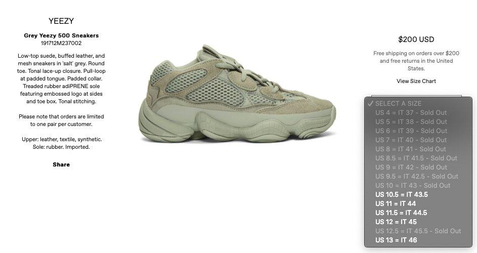 Restock Adidas Yeezy Boost 500