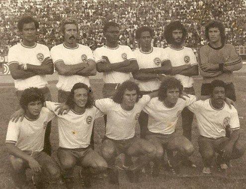 1976 @ECBahia Sapatão, Roberto Rebouças, Perivaldo, Baiaco, Romero e Joel Mendes; Jorge Campos, Douglas, Mickey, Fito e Jésum. Photo