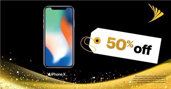Fifty Percent OFF iPhone X! #SeduceMeIn4Words 😉 Visit us today: Photo