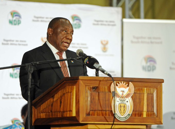 [Pics] President @CyrilRamaphosa proclaims 01 January 2019 as the effective date of the #NationalMinimumWage in South Africa Photo