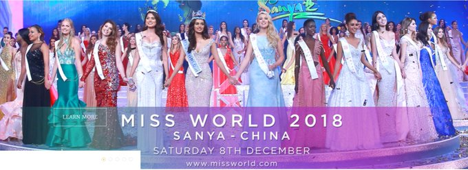 #MissWorld2018 Final event to be held today( Sat. 8th Dec.), 11am GMT(2:00pm EAT) in Sanya, China Miss World 2017, Manushi Chhillar of India will crown her successor at the end of the event. The reigning Miss Uganda, @AbenakyoQuiin is among the finalists at the global pageant Photo
