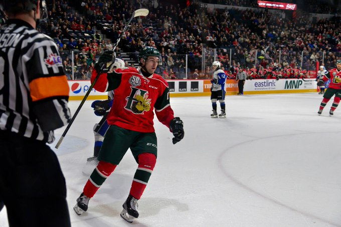 """GAME STORY: Make it 3 straight wins for the Mooseheads and as Denis Toner puts it - The boys are dialed in."""" Read more --> #GoMooseGo Photo"""