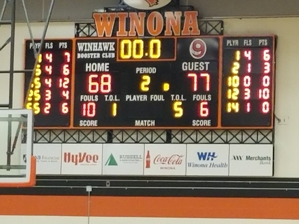 Am 1480 Kaus On Twitter Hoopsahs Wins 77 68 At Winona The Packers Score Their Final 11 Points At The Free Throw Line Medi Obang Scores A Game High 29 Points Https T Co Jarotbzmyf